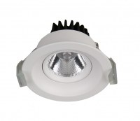 7W LED COB downlight adjustable angle aluminum heat sink round recessed mounted