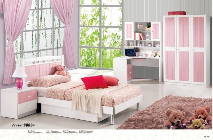 4 pcs White / Pink Modern Princess / Girl Children Bedroom ...