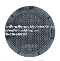 Customized Sand Casting Foundry Manhole Cover With Machining