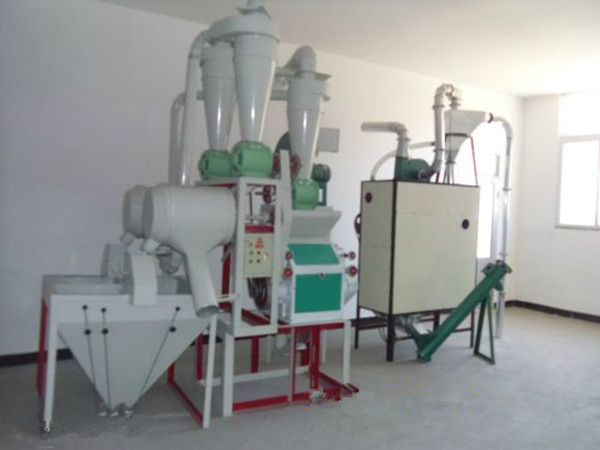 Self feeding automatic roller mill mini flour