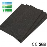 Rubber acoustc floor tile shockproof for gym