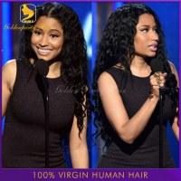 Unprocessed 100% Brazilian Virgin U Part Wig Wavy 130 Density U Part Wig/Full Lace Wig/...