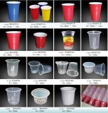 Disposable PP PS Plastic Red Solo Party Cups Many Size