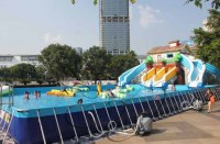 Outdoor Thrilling Inflatable Water Park / Inflatable Water Sport