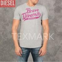 """GROSSISTE DE LOT 10 T SHIRTS DIESEL """"BRAVE"""" GRIS 2015"""