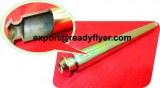Wheelie bin full hollow axle with opened end