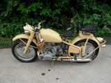 Two wheels Changjiang 750cc motorcycle sidecar with yellow color
