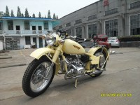 Two wheels CJ 750cc motorcycle with yellow color