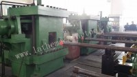 Automatic control tubing upsetting press for oil pipe