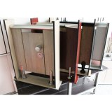 Hpl toilet partition and shower material with stainless steel accessories