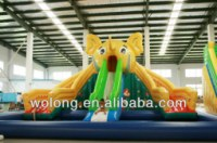 Outdoor inflatable water slide, inflatable aqua slide, commercial water slide for kids