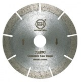 Segmented sintered saw blade 120