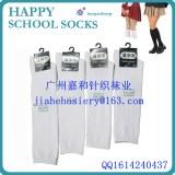 Young girls school white socks /design school girls long socks