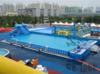 Exciting inflatable floating water parks,water sport games for lake