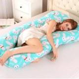 Sleeping Support Pillow For Pregnant Women Body PW12 100% Cotton Rabbit Print U Shape...