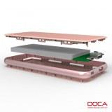 Ultra thin custom logo powerbank DOCA D606 5000mah slim power bankAh