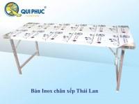 Folding Rectangular Stainless Steel Table