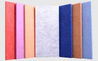 Soundproof indoor acoustic panel Polyester fiber Panel with Colorful Choices