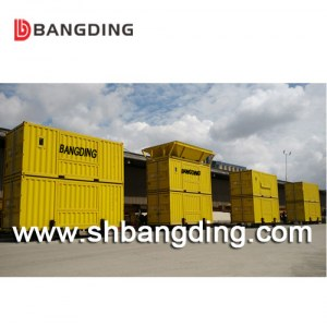 BANGDING 50kg port movable containerized weighing and bagging machine for cement
