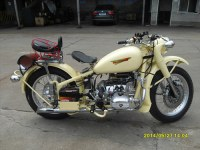 750CC 24HP Fashion yellow racing Motorcycle without Sidecar