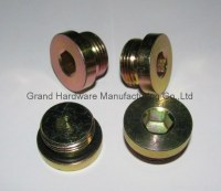 SAE hex socket steel plug