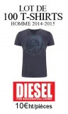 FOURNISSEUR LOT DESTOCKAGE 100 TEE SHIRTS DIESEL HOMME 2015