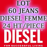 CLEARANCE JEANS DIESEL WOMAN IN LOT OF 60 PIECES
