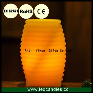 1 pcs Fameless Wax Irregular Shape LED Candles For Home Decor With 3AAA Battery