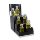 Cosmetics Display Box Mirror Surface Acrylic Perfume Display Stand With Fold