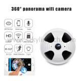 360 degree panoramic fisheye wireless smoke detector hidden camera
