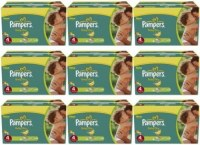 456 couches Pampers Baby Dry-Taille 4