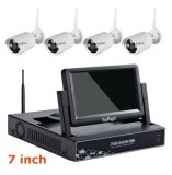 4CH 7inch WIFI Real Plug&Play LCD NVR Kit