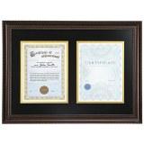 Wood Diploma Frame