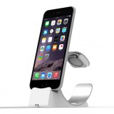 2-in-1 watch & phone Charging Aluminum Stand