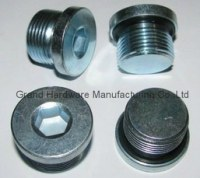 Hydraulic hex socket oil drain plug
