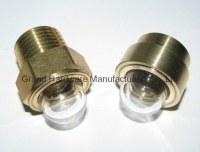 Domed shape Brass Oil sight glass