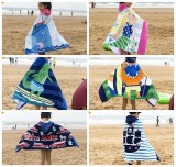 Children Cute Cartoon Hooded Cloak Beach Towel Animal Printed Microfiber Baby Boys Girl...