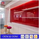 4mm Silkscreen Red Tempered Silkscreen Glass Splashbacks For Kitchen
