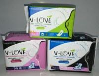 Shenzhen V-LOVE Nano silver anion and far infrared sanitary napkin