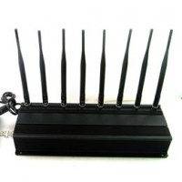 8 Antennas High Power GPS/ WiFi/ 315/ 433 Jammer