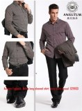 Anilutum Brand Autumn England, Men's long-sleeved shirt easy care casual S219133