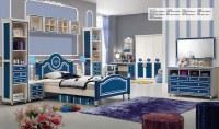 Princess Blue Oak MDF Kids Bedroom Furniture Set