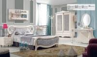 Youth Kids Luxurious Oak MDF Bed room Furniture Set