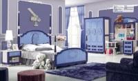 MDF Kids Children Wood Oak Bedroom Furniture Set