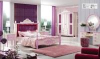 Pink Princess Teen Wood Bedroom Set Furniture