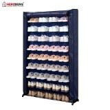 Herzberg HG-8077: Organisateur de Porte-Chaussures à 9 Niveaux Bleu