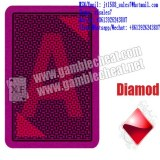XF A Plus Plastic Poker Playing Cards With Green / Brown Color For Contact Lenses / For...