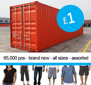Container offer: mens and ladies clothing