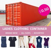 Ladies Clothing Container offer 0.50p