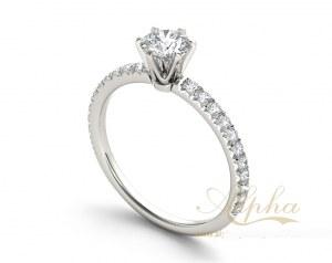 925 Sterling Silver Fashion Brilliant Diamond Wedding Engagement Rings